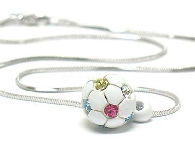 mini soccer necklace(E1235MT-124106)