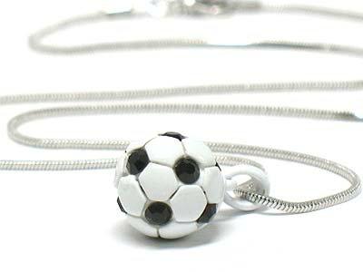 Mini soccer necklace(E1235BK-124107)