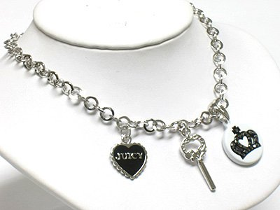 Key, heart & crown(R1265BK-29110)