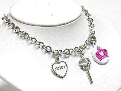 Key, heart & crown(R1265PK-29111)