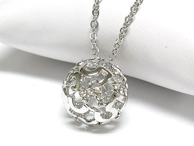 Crystal #5 ball necklace(J1255CL-3246)