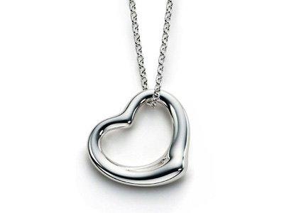 Open heart pendant necklace(E1225SL-121045)