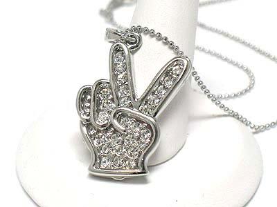 Peace hand sign (R1241SL-12157)