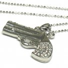 Crystal pistol necklace(N1245CL-11889)