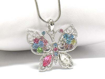 Butterfly necklace (E1241MT-124126)