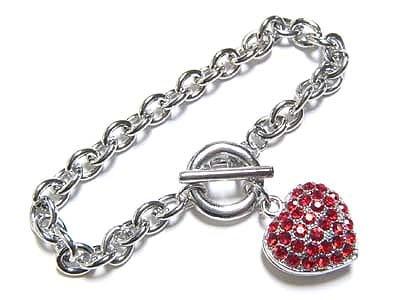 Red heart bracelet(N1123RD-22203)