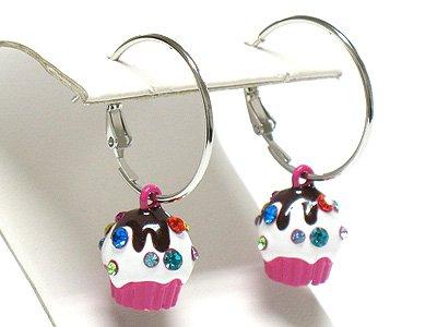 Ice cream cup earring(R966FS-3472)