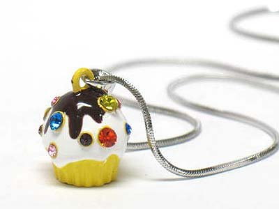 Ice cream cup necklace(E125YL-1218125)
