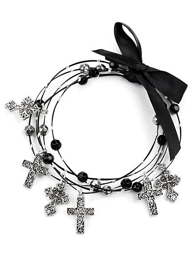 Multi strand wire cross bracelets(b1056jtlf_38HD)