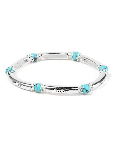 Faith Hope Love stretch bracelet(b1361lfstq_4HD)