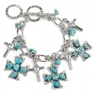 Toggle cross charms bracelet(b1793tq_24HD)