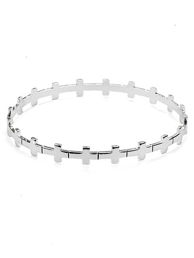 Cross link bangle bracelet(b21899ats_28HD)