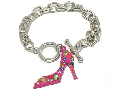 High heel shoe bracelet(A1131PK-52237)