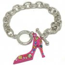 High heel shoe bracelet(A1131PK-52237)