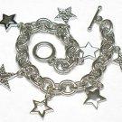 Multi star charm bracelet(J1133SL-32509)