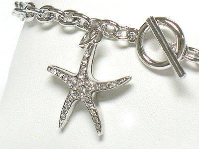 Starfish charm toggle bracelet(R1139SL-32527)