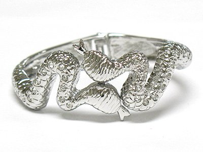Snake hinged bracelet(L1157SL-32539)
