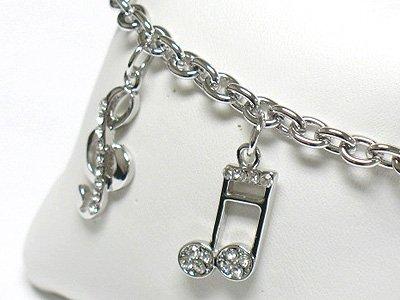 Music Note charm bracelet(R1149SL-32394)