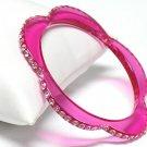Flower shaped acrylic bracelet(C1141FS-61223)