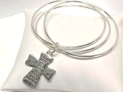 Bible phrased cross bracelet(O1149SL-112182)