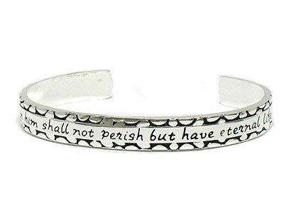 Bible Inscribed bangle bracelet(A1135SL-21884)