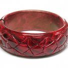 Crack surface acrylic bangle bracelet(C11125RD-22538)