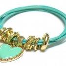 Heart charm string bracelet(D11141GN-2520)