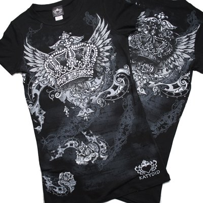 Crown  with wings rhinestone shirt