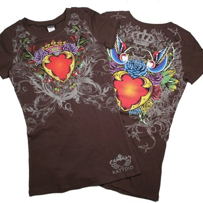 Crowned Heart Rhinestone T Shirt