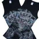 VICTORIAN CROWN Rhinestone tank top