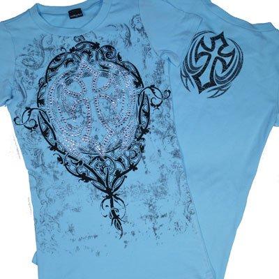 Cross Designer Rhinestone Tee Shirt
