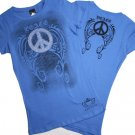 Peace symbol with wings t-shirt