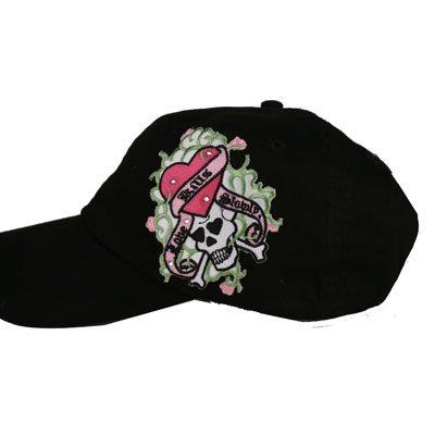 """Skull""""Love Kills"""" women's baseball cap"""