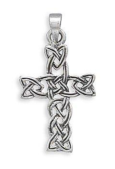 Sterling Silver Woven Celtic Cross Pendant(73433)
