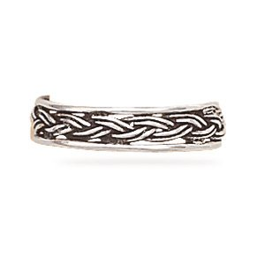 Oxidized Braided Toe Ring(9217)