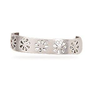 Oxidized Stamped Flower Toe Ring(9487)