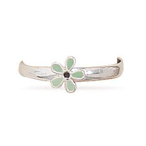 Enamel Flower Toe Ring(9638)