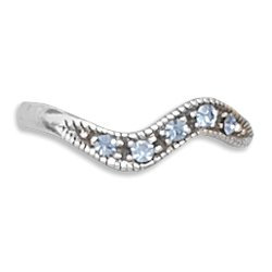 Toe Ring with Sapphire Crystals(9889)