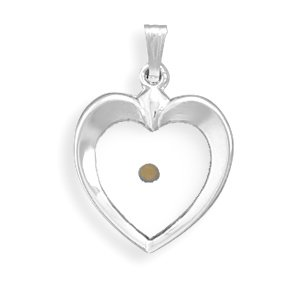 Heart Pendant with Mustard Seed(73543)