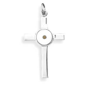 Cross Pendant with Mustard Seed(73573)