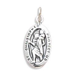 Small Oval Saint Christopher Charm(5503)