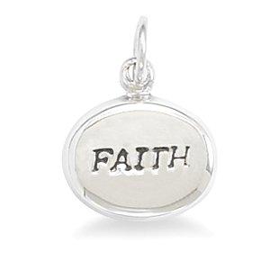 """Oval Hollow """"FAITH"""" Charm(72832)"""