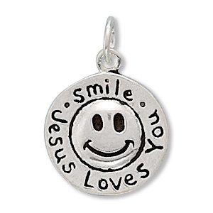 """""""Smile Jesus Loves You"""" Charm (73025)"""