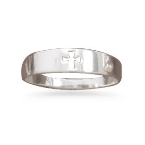 Cut Out Cross Fashion Ring(W8030)
