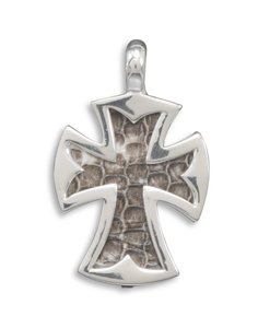 Large Snakeskin Cross Pendant(73352)