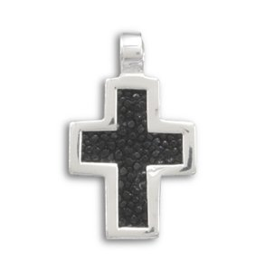 Black Stingray Cross Pendant(73349)