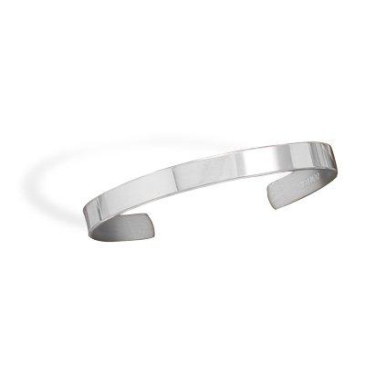 Polished Pewter Men's Cuff Bracelet(22947)