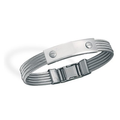 Stainless Steel Cable ID Bracelet(22930)