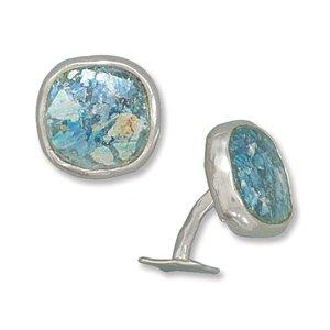 Ancient Roman Glass Cuff Links(9866)
