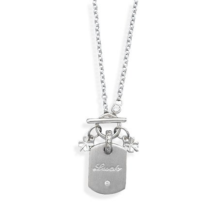 """Luck"""" Tag and 4 Leaf Clover Charms(33178)"""
